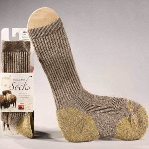 Bison Wool Crew Sock