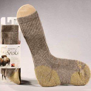 Bison Wool Crew Sock