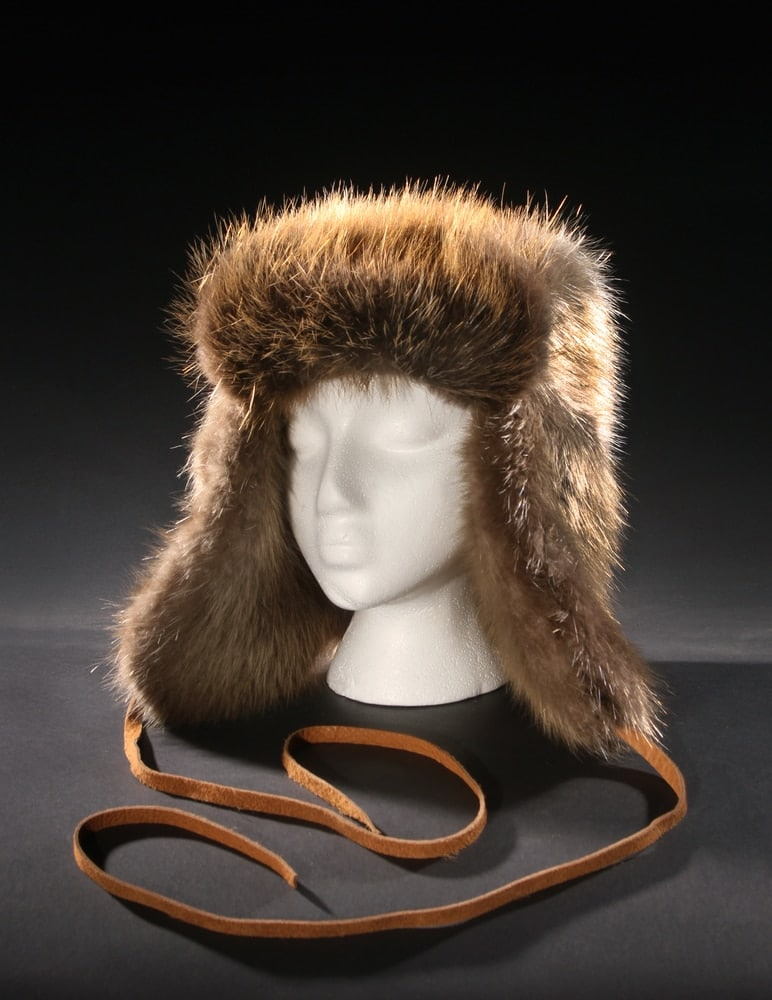 The classic styled Beaver Fur Trappers hat crafted from sleek and ... 5b40e32cc61