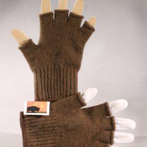 Bison Wool Fingerless Gloves