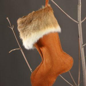 Buffalo Leather Christmas Stocking