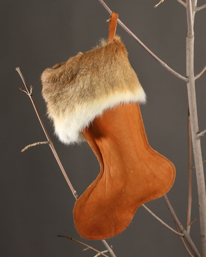 Buffalo Leather Christmas Stocking Christmas Stockings Add