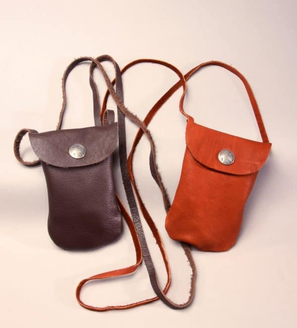 Buffalo Leather Snap Bag