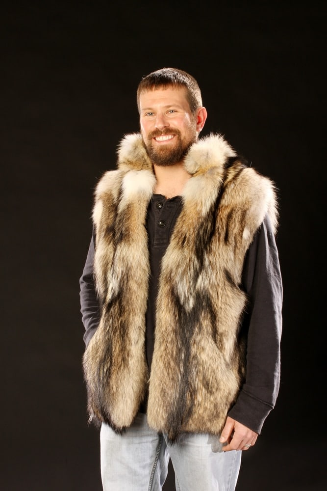 Coyote Fur Vest Mens