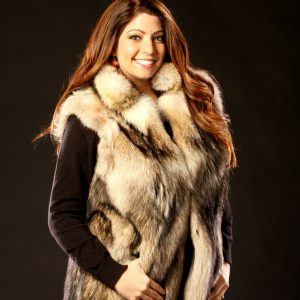 Coyote Fur Vest - Women's