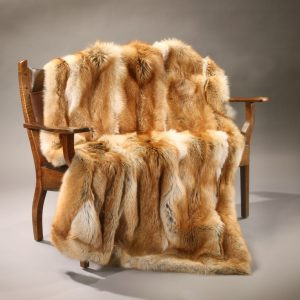 Red Coyote Fur Blanket