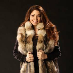 Coyote Fur Vest - Women's