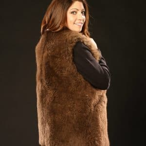 Buffalo Fur Vest - Women's