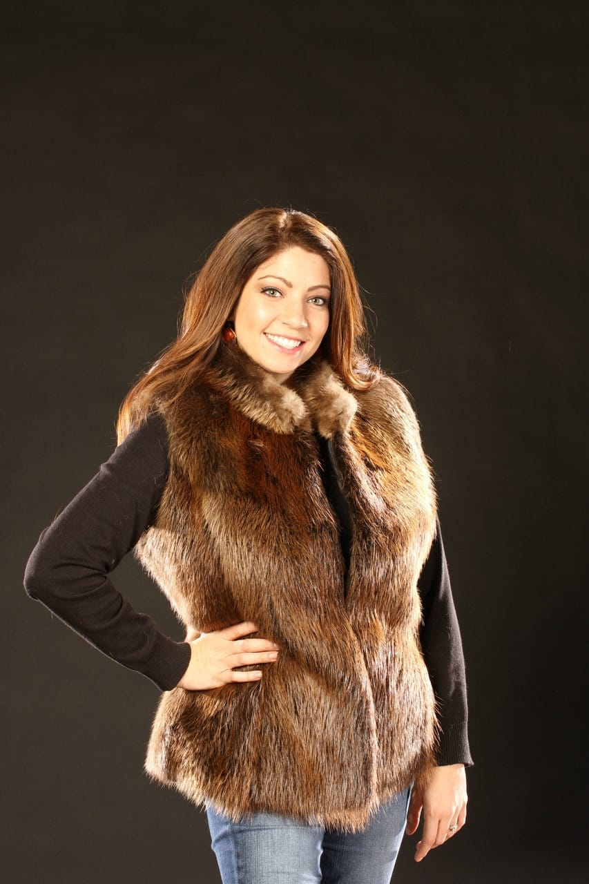 Women S Fur Vest Made From Soft One Of A Kind Beaver Fur