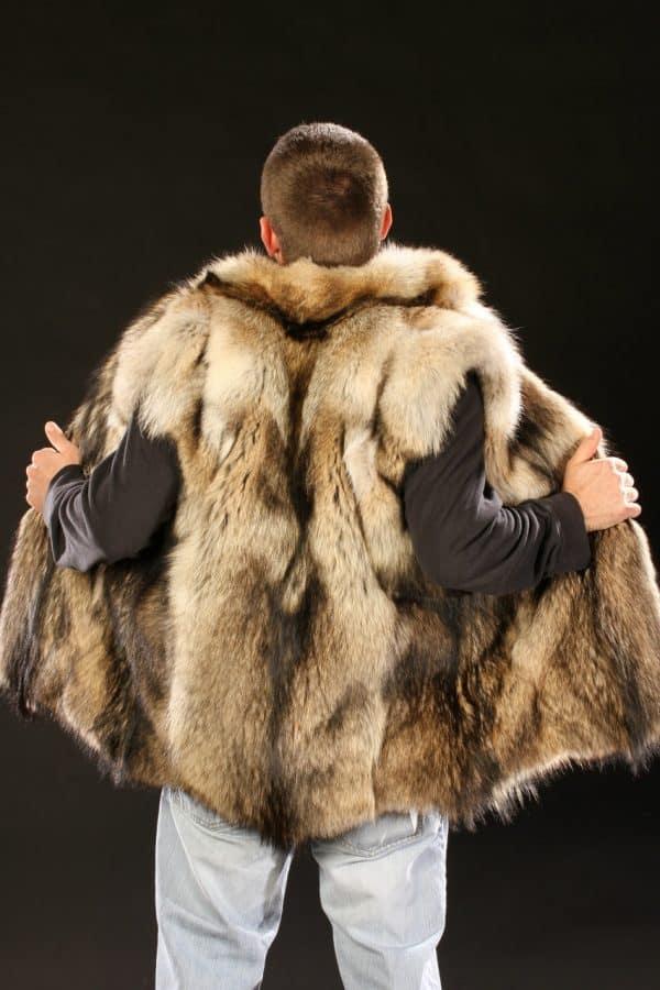 Coyote Fur Vest - Men's