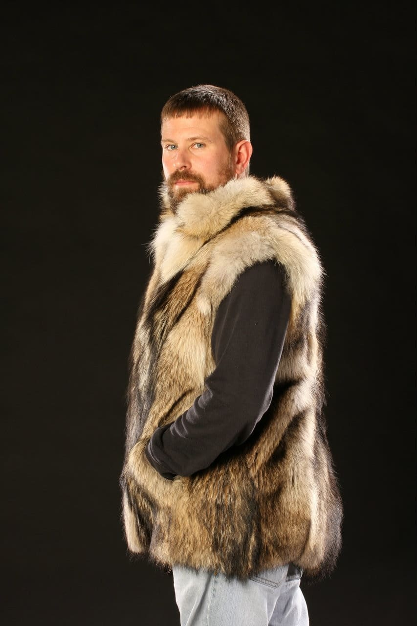 Prized Coyote Fur Vests with their distinctive dark streak and ... e81f333dd5f