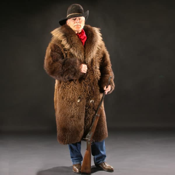 Buffalo Fur Coat (Full Front View)