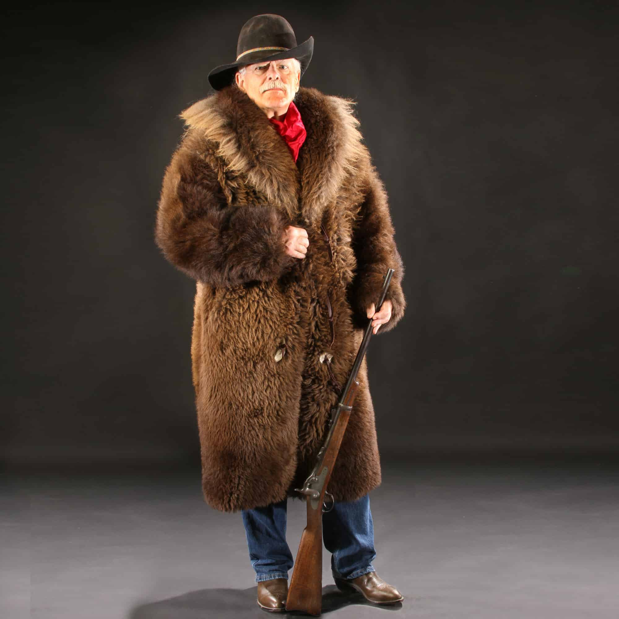 7e4f60e2193cb Natural Buffalo Fur Coat - Full-Length Custom Tailored - Handmade in USA