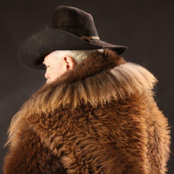 Buffalo Fur Coat (Back View)
