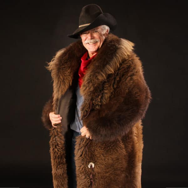 Buffalo Fur Coat (Front View, slightly open)