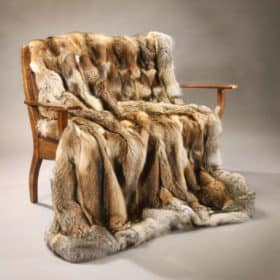 Coyote Fur Blanket - Grey