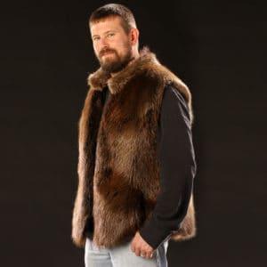 Men's Beaver Vest - Side Angle