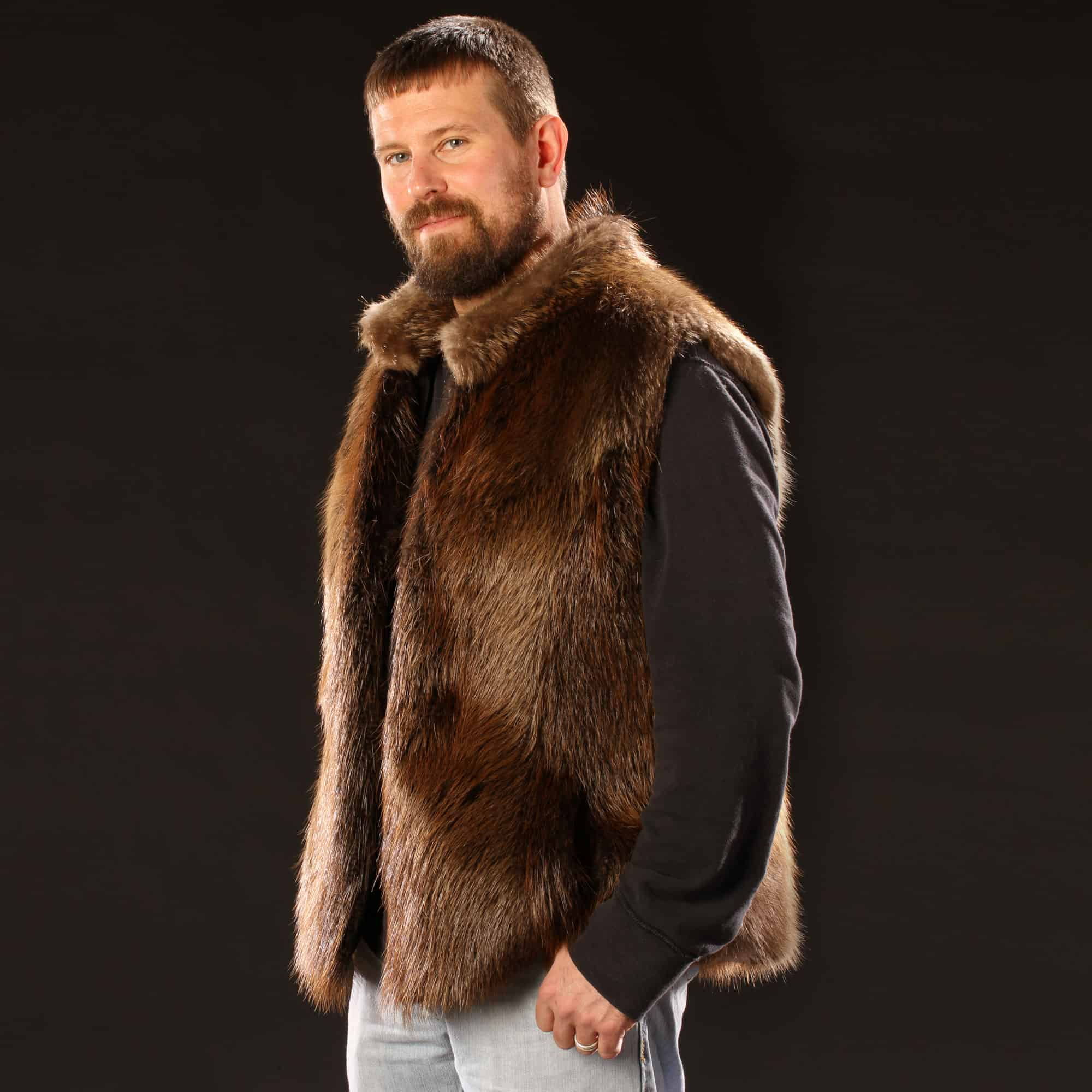 The Men S Beaver Fur Vest Is A Sleek Way To Warm You From