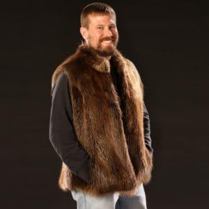 Men's Beaver Vest
