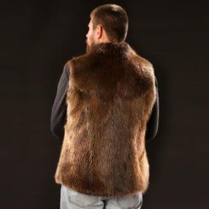 Men's Beaver Vest - Back