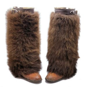 buffalo-fur-gaiters