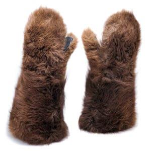 buffalo-fur-mittens