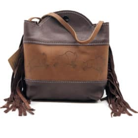 Cowhide and Bison Leather Purse – Running Buffalo