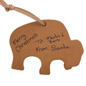 leather-buffalo-ornament-tags-labelled